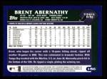 2003 Topps #186  Brent Abernathy  Back Thumbnail