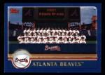 2003 Topps #632   Atlanta Braves Team Front Thumbnail