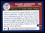 2003 Topps #704   -  Randy Johnson Award Winners Back Thumbnail