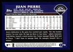 2003 Topps #178  Juan Pierre  Back Thumbnail
