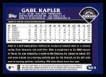 2003 Topps #563  Gabe Kapler  Back Thumbnail