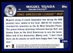 2003 Topps #705   -  Miguel Tejada Award Winners Back Thumbnail