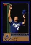 2003 Topps #275  Tony Pena  Front Thumbnail