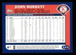 2003 Topps #444  John Burkett  Back Thumbnail