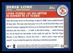 2003 Topps #336   -  Derek Lowe Season Highlights Back Thumbnail