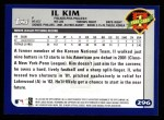 2003 Topps #296   -  Il Kim First Year Back Thumbnail
