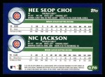 2003 Topps #676  Hee Seop Choi / Nic Jackson  Back Thumbnail