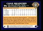 2003 Topps #29  Chad Bradford  Back Thumbnail