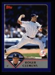 2003 Topps #61  Roger Clemens  Front Thumbnail