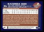 2003 Topps #150  Kazuhisa Ishii  Back Thumbnail