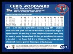 2003 Topps #564  Chris Woodward  Back Thumbnail