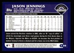 2003 Topps #138  Jason Jennings  Back Thumbnail
