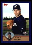 2003 Topps #442  Todd Ritchie  Front Thumbnail