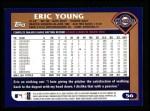 2003 Topps #56  Eric Young  Back Thumbnail