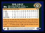 2003 Topps #429  Ted Lilly  Back Thumbnail