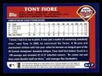 2003 Topps #617  Tony Fiore  Back Thumbnail