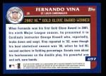2003 Topps #697   -  Fernando Vina Award Winners Back Thumbnail