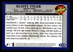 2003 Topps #319   -  Scott Tyler First Year Back Thumbnail