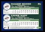 2003 Topps #683  Taggert Bozied / Xavier Nady  Back Thumbnail