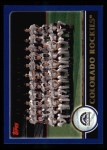 2003 Topps #639   Colorado Rockies Team Front Thumbnail