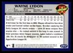 2003 Topps #297   -  Wayne Lydon First Year Back Thumbnail