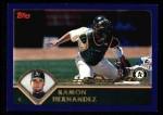 2003 Topps #191  Ramon Hernandez  Front Thumbnail