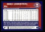 2003 Topps #117  Mike Lieberthal  Back Thumbnail