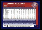 2003 Topps #3  Jimmy Rollins  Back Thumbnail