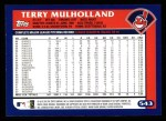 2003 Topps #543  Terry Mulholland  Back Thumbnail