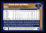 2003 Topps #393  Desi Relaford  Back Thumbnail