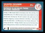 2003 Topps #335   -  Jason Giambi Season Highlights Back Thumbnail