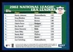 2003 Topps #347   NL ERA Leaders Back Thumbnail