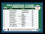 2003 Topps #348   NL Strikeout Leaders Back Thumbnail