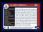 2003 Topps #656   St. Louis Cardinals Team Back Thumbnail