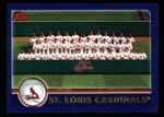2003 Topps #656   St. Louis Cardinals Team Front Thumbnail
