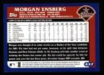 2003 Topps #437  Morgan Ensberg  Back Thumbnail