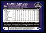 2003 Topps #248  Shawn Chacon  Back Thumbnail