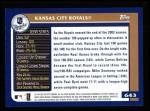 2003 Topps #643   Kansas City Royals Team Back Thumbnail