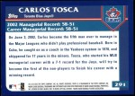 2003 Topps #291  Carlos Tosca  Back Thumbnail