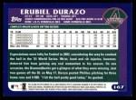 2003 Topps #167  Erubiel Durazo  Back Thumbnail