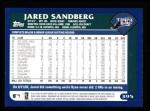 2003 Topps #395  Jared Sandberg  Back Thumbnail