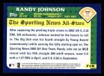 2003 Topps #718   -  Randy Johnson All-Star Back Thumbnail