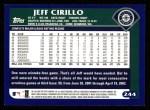 2003 Topps #244  Jeff Cirillo  Back Thumbnail