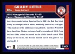 2003 Topps #265  Grady Little  Back Thumbnail