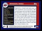 2003 Topps #646   Minnesota Twins Team Back Thumbnail