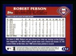 2003 Topps #242  Robert Person  Back Thumbnail