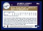 2003 Topps #672  James Loney  Back Thumbnail