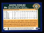 2003 Topps #579  Keith Foulke  Back Thumbnail