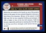 2003 Topps #696   -  Todd Helton Award Winners Back Thumbnail