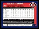 2003 Topps #414  Reggie Taylor  Back Thumbnail